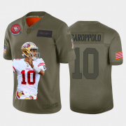 Cheap San Francisco 49ers #10 Jimmy Garoppolo Nike Team Hero 3 Vapor Limited NFL Jersey Camo
