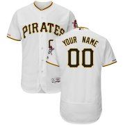 Wholesale Cheap Pittsburgh Pirates Majestic Home Flex Base Authentic Collection Custom Jersey White
