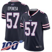 Wholesale Cheap Nike Bills #57 A.J. Epenesas Navy Men's Stitched NFL Limited Inverted Legend 100th Season Jersey