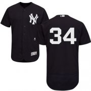 Wholesale Cheap Yankees #34 J.A. Happ Navy Blue Flexbase Authentic Collection Stitched MLB Jersey