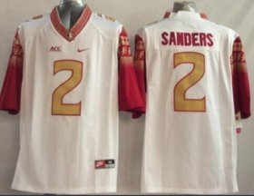 Wholesale Cheap Florida State Seminoles #2 Deion Sanders 2014 White Limited Jersey