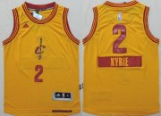 Cheap Cleveland Cavaliers #2 Kyrie Irving 2014 Christmas Day Yellow Kids Jersey
