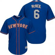 Wholesale Cheap Mets #6 Jeff McNeil Blue(Grey NO.) Cool Base Stitched Youth MLB Jersey
