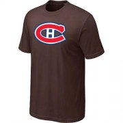 Wholesale Cheap Montreal Canadiens Big & Tall Logo Brown NHL T-Shirt