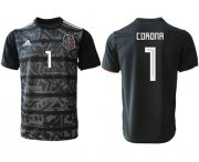 Wholesale Cheap Mexico #1 Corona Black Soccer Country Jersey