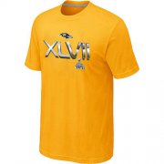 Wholesale Cheap Men's Baltimore Ravens 2012 Super Bowl XLVII On Our Way T-Shirt Yellow
