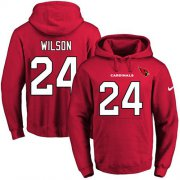 Wholesale Cheap Nike Cardinals #24 Adrian Wilson Red Name & Number Pullover NFL Hoodie