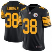 Wholesale Cheap Nike Steelers #38 Jaylen Samuels Black Men's Stitched NFL Limited Rush Jersey