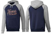 Wholesale Cheap Detroit Tigers Pullover Hoodie Dark Blue & Grey
