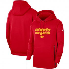 Wholesale Cheap Kansas City Chiefs Nike Sideline Local Performance Pullover Hoodie Red