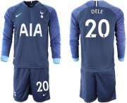 Wholesale Cheap Tottenham Hotspur #20 Dele Away Long Sleeves Soccer Club Jersey
