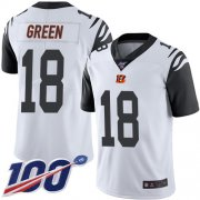 Wholesale Cheap Nike Bengals #18 A.J. Green White Men's Stitched NFL Limited Rush 100th Season Jersey
