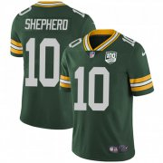 Wholesale Cheap Nike Packers #10 Darrius Shepherd Green Team Color Men's 100th Season Stitched NFL Vapor Untouchable Limited Jersey
