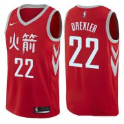 Wholesale Cheap Houston Rockets #22 Clyde Drexler Red Nike NBA Men's Stitched Swingman Jersey City Edition