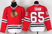 Wholesale Cheap Blackhawks #65 Andrew Shaw Red Stitched Youth NHL Jersey