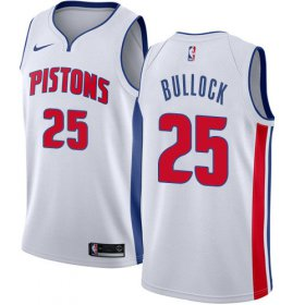 Wholesale Cheap Nike Pistons #25 Reggie Bullock White NBA Swingman Association Edition Jersey