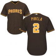 Wholesale Cheap Padres #2 Jose Pirela Brown New Cool Base Stitched MLB Jersey