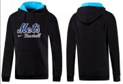 Wholesale Cheap New York Mets Pullover Hoodie Black & Blue