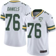 Wholesale Cheap Nike Packers #76 Mike Daniels White Youth 100th Season Stitched NFL Vapor Untouchable Limited Jersey