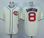 Wholesale Cheap Cubs #8 Andre Dawson Cream 1929 Turn Back The Clock Stitched MLB Jersey