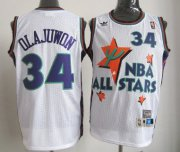 Wholesale Cheap NBA 1995 All-Star #34 Hakeem Olajuwon White Swingman Throwback Jersey