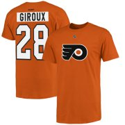 Wholesale Cheap Philadelphia Flyers #28 Claude Giroux Reebok Name and Number Player T-Shirt Orange