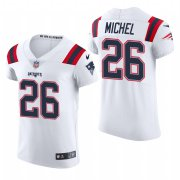 Cheap New England Patriots #26 Sony Michel Nike Men's White Team Color Men's Stitched NFL 2020 Vapor Untouchable Elite Jersey