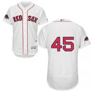 Wholesale Cheap Red Sox #45 Pedro Martinez White Flexbase Authentic Collection 2018 World Series Champions Stitched MLB Jersey