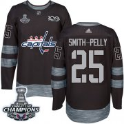 Wholesale Cheap Adidas Capitals #25 Devante Smith-Pelly Black 1917-2017 100th Anniversary Stanley Cup Final Champions Stitched NHL Jersey