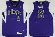 Wholesale Cheap Sacramento Kings #8 Rudy Gay Revolution 30 Swingman Purple Jersey