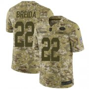 Wholesale Cheap Nike 49ers #22 Matt Breida Camo Youth Stitched NFL Limited 2018 Salute to Service Jersey