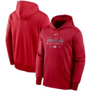 Wholesale Cheap Men's Cleveland Indians Nike Red Authentic Collection Therma Performance Pullover Hoodie