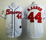 Wholesale Cheap Mitchell And Ness 1963 Braves #44 Hank Aaron White Stitched MLB Jersey