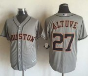 Wholesale Cheap Astros #27 Jose Altuve Grey New Cool Base Stitched MLB Jersey