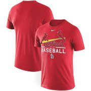 Wholesale Cheap St. Louis Cardinals Nike Practice Performance T-Shirt Red