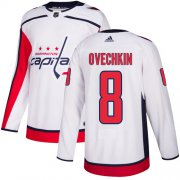 Wholesale Cheap Adidas Capitals #8 Alex Ovechkin White Road Authentic Stitched Youth NHL Jersey