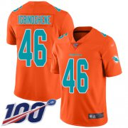 Wholesale Cheap Nike Dolphins #46 Noah Igbinoghene Orange Men's Stitched NFL Limited Inverted Legend 100th Season Jersey