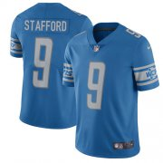 Wholesale Cheap Nike Lions #9 Matthew Stafford Blue Team Color Men's Stitched NFL Vapor Untouchable Limited Jersey