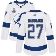 Cheap Adidas Lightning #27 Ryan McDonagh White Road Authentic Women's 2020 Stanley Cup Champions Stitched NHL Jersey