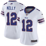 Wholesale Cheap Nike Bills #12 Jim Kelly White Women's Stitched NFL Vapor Untouchable Limited Jersey