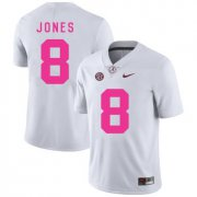 Wholesale Cheap Alabama Crimson Tide 8 Julio Jones White 2017 Breast Cancer Awareness College Football Jersey