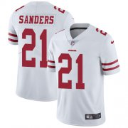 Wholesale Cheap Nike 49ers #21 Deion Sanders White Men's Stitched NFL Vapor Untouchable Limited Jersey