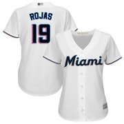 Wholesale Cheap Marlins #19 Miguel Rojas White Home Women's Stitched MLB Jersey