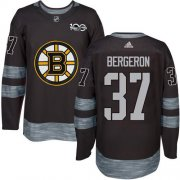 Wholesale Cheap Adidas Bruins #37 Patrice Bergeron Black 1917-2017 100th Anniversary Stitched NHL Jersey