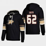 Wholesale Cheap Anaheim Ducks #62 Andrej Sustr Black adidas Lace-Up Pullover Hoodie