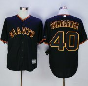 Wholesale Cheap Giants #40 Madison Bumgarner Black New Cool Base Fashion Stitched MLB Jersey