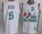 Wholesale Cheap NBA 1996 All-Star #5 Jason Kidd White Swingman Throwback Jersey
