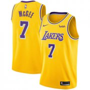 Wholesale Cheap Men's Los Angeles Lakers #7 JaVale McGee Gold Nike NBA Icon Edition Swingman Jersey