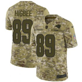 Wholesale Cheap Nike Rams #89 Tyler Higbee Camo Youth Stitched NFL Limited 2018 Salute to Service Jersey