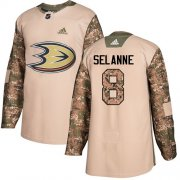 Wholesale Cheap Adidas Ducks #8 Teemu Selanne Camo Authentic 2017 Veterans Day Youth Stitched NHL Jersey